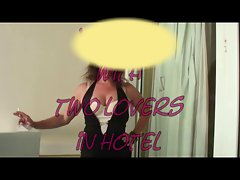 My dirty wife with two lovers in hotel