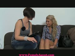 FemaleAgent - Reality TV slutty girl tries porn