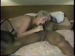 Experienced broad in stockings get her black penis fix, 2 of 2