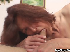 Lustful granny shagging her son in law