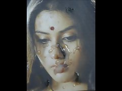 Gman Cum on Face of Seductive indian Celeb Namitha (tribute)