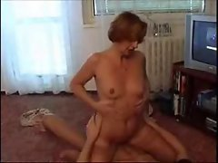 Tempting blonde slutty mom and not her son