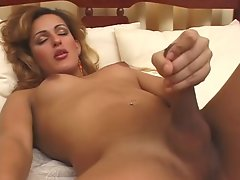 Blond tgirl 3Some
