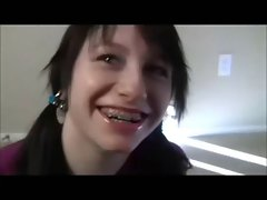 Ponytail And Braces Point of view Handjob