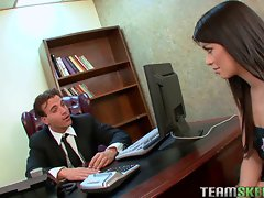 TeamSkeet Luscious attractive dark haired Ashlyn Rae shaven pinky quim fuc