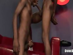 Ebony hunks long giving blowjob
