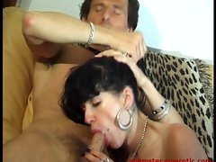 Horny Bi Crazy threesome action with filthy Mummy and 2 chaps - 1 of 2