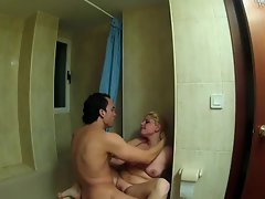 FAKings - Bathroom fuck with a spanish tempting blonde