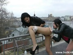 HOTKINKYJO AND RITA Slit AND Bum FISTING OUTSIDE