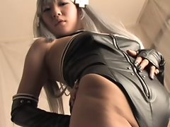 Seductive japanese leather and boots Anioy