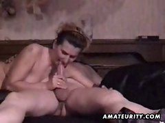 Attractive mature amateur couple homemade wild play