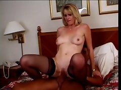Attractive Tempting blonde Aged Puma Fucks Male Escort