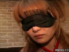 Chesty whore Remi banged while blindfolded