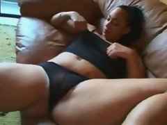 Sensual Obese Plump Slutty ebony Ex Girlfriend masturbating her Dripping Cunt