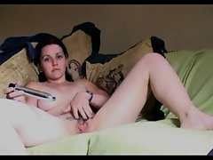 Mellow girl has a sensual orgasm by herself