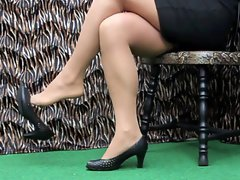 LenaTV25 Spezial Shoeplay Stockings Strumpfhosen S01