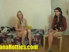 Fresh Tereza - double BJ and triplet at the 1st casting