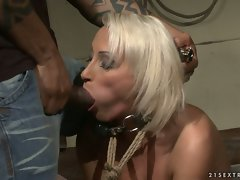 Dominated nympho gets her mouth stuffed with strong dick