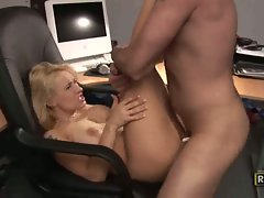 Whorish Rebecca Steel gets her narrow vagina crushed