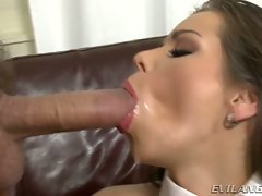 Perfect Jessica Koks loves gulping down warm cum