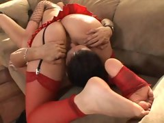 A perfect sixty nine and a footjob from Annette Schwarz