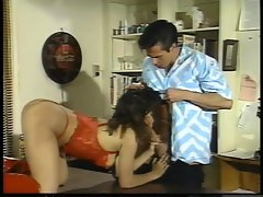 Sassy Brooke Ashley licks on Peter North's huge prick