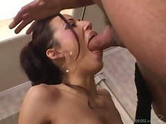 Layla Rivera gets a huge filthy stiff penis pushed deep down her tense throat