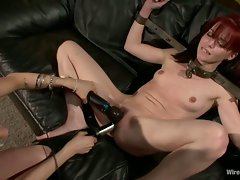 Great dolls Donna and Jessi Palmer gets their damp cunt punished