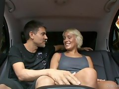 Sensual Tristan Taylor strips off in the back seat