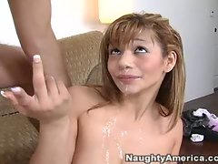 Destiny Summers cleans up the house but her boss can only pay in cum