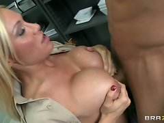 Saucy cop Tyler Faith gives this prick a titty fuck