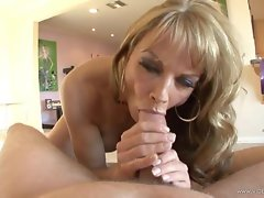 Saucy Shayla Laveaux receives a stiff pecker down her throat
