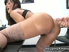 Wild bitch Lisa Ann craves a attractive load of cum on her unbelievable butt at the office