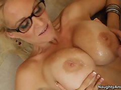 Charming Charlee Chase gets her huge melons glazed