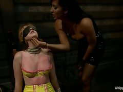 Slutty Marie McCray gets her knockers whipped by Isis Love