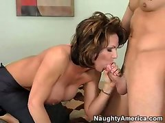 Sexual mummy Deauxma satisfies her hunger pains by munching on a obese lush phallus