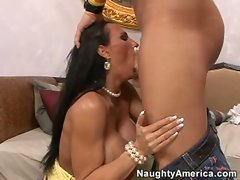 Attractive filthy mom Lisa Lipps gets her sausage and eggs with a creamy sauce
