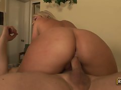 Sensual cowgirl Ahryan Astyn loves to tamed by rough cowboy phallus