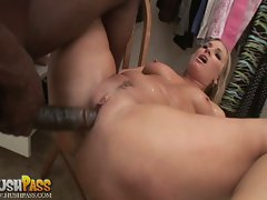 Flower Tucci is screwed so deep her juicy round ass and narrow pussy spread open