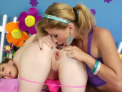 Filthy Brooklyn Lee caresses out Kagney Karter's brown eye