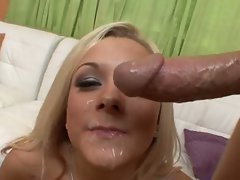 Sensual Brandy Blair crushed up her stiff quim until it blows cum on face
