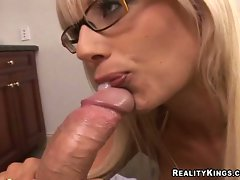 Lucious Puma Swede loves to get her big titties banged and a facial