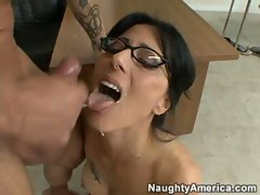 Zoe Holloway gets slammed rough then receives a big load from her male friend