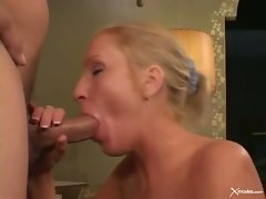 Cameron James alluring young lady like giving blowjob wild