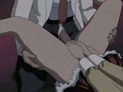 Hentai hussy getting a giant shaft thumped up her weeny moist hole