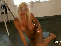 Puma Swede attractive chick get nude on the floor