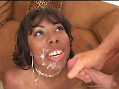 Candace Von shower with warm cumshot on her face