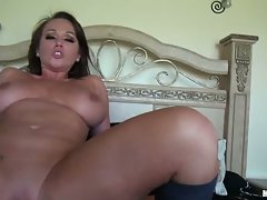 Chloe Reese Carter slap and tickle with a long phallus