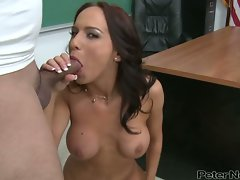 Karina OReilley suck phallus in the classroom