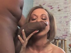 Puma Nya gets two ebony penises to play with